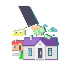 Invest in real estate icon flat design vector