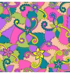 Abstract flowers colorful vector