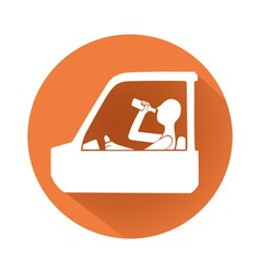 Drunk driving symbol vector image