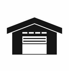 Warehouse icon simple style vector