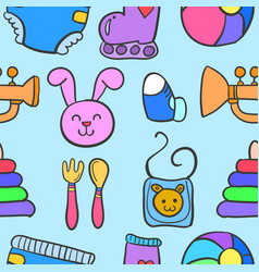 Baby element set of doodles vector