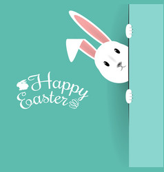 Beautiful easter hare on blue background vector
