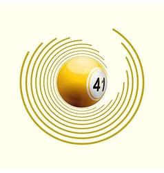 Bingo ball on circle pattern vector