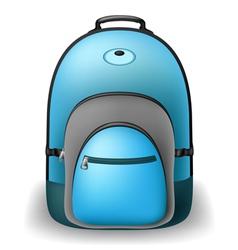 Blue school bag vector image