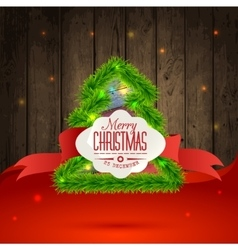 Christmas Messages and objects on wrinkled vector image