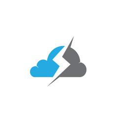 cloud technology logo template design vector image vector image