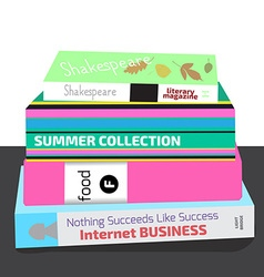 coloful books vector image vector image