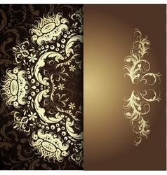 Damask floral pattern vector image