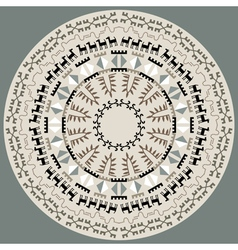 Disc With Primitive Art Pattern vector image