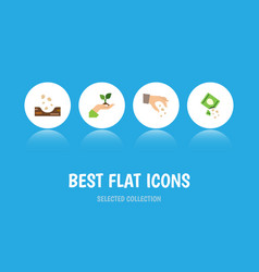 Flat icon sow set of care seed sow and other vector