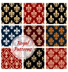 Fleur-de-lys french royal seamless pattern vector