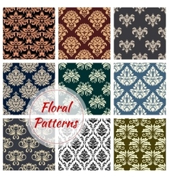 Floral patterns set of flowery ornate design vector image vector image