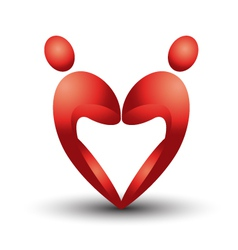 Heart figure logo vector image