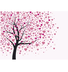 Heart tree design vector