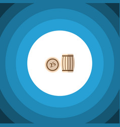 isolated lotto flat icon lottery element vector image
