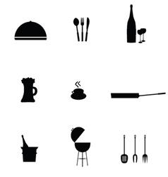 Kitchen accessories black vector