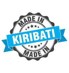 Made in kiribati round seal vector