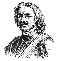 Peter the great vintage vector