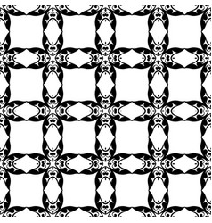 seamless vintage wallpaper black and white vector image