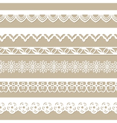 set of seamless paper laces vector image