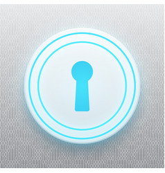 technology digital cyber security keyhole circle vector image vector image