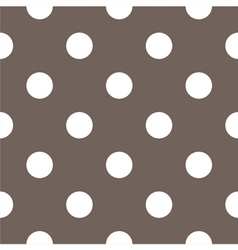 Tile white polka dots on brown background vector image vector image