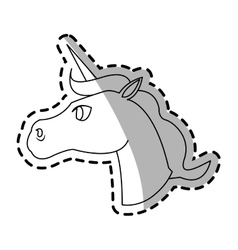 Unicorn cartoon icon vector