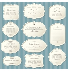 Vintage frame set Calligraphic design elements vector image