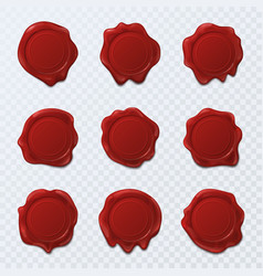 wax seal or stamps for letter or document sign vector image vector image