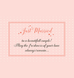 Wedding greeting card simple style art vector