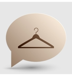 Hanger sign  brown gradient icon on vector