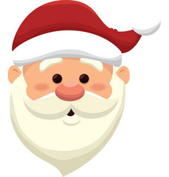 santa claus christmas icon vector image