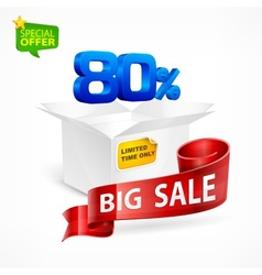 Big sale concept vector