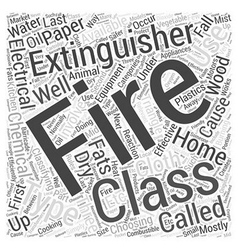 Choosing a fire extinguisher for your home word vector