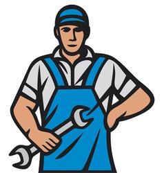 Auto mechanics - professional worker vector