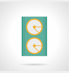 stage speakers flat color icon vector image