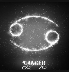 Abstract zodiac sign cancer on a vector