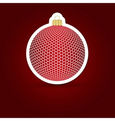Christmas background Sticker ball vector image