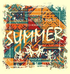 Boho summer poster vector