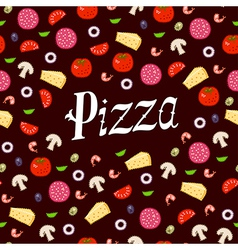 Pizza pattern headline vector