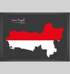 Jawa tengah indonesia map with indonesian vector