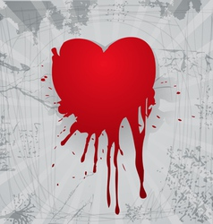 Bloody heart vector