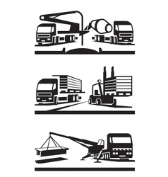 Construction and lifting transportation vector