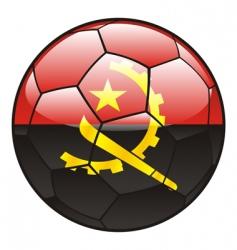angola flag on soccer ball vector image