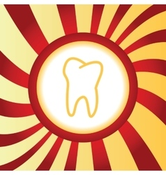 Tooth abstract icon vector