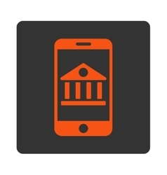Mobile bank icon vector