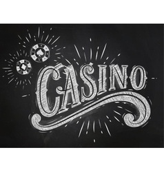 Casino sign chalk vector image