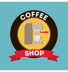 Coffee drink shop vector