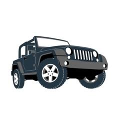 Convertible car off-road jeep SUV vector image