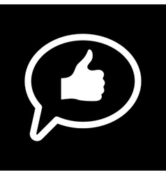 Thumbs up in the speech bubble icon social vector